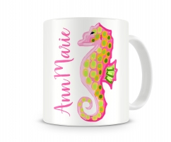 Sea Horse Personalized Coffee Mug Right Hand Side