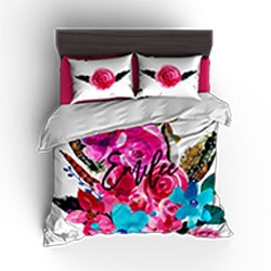 Custom bedding, personalized bedding