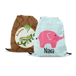 Personalized Drawstring Kids Backpacks