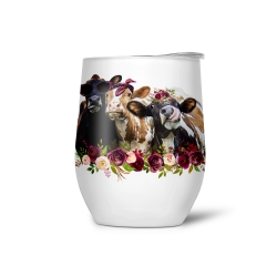 Custom Stainless Steel Insulated Stemless Wine Tumblers