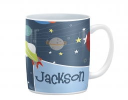 Space Ship Rocket Boys Personalized Kids Cup, Mug
