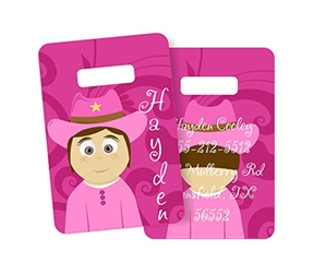 Little Me Luggage Tags, Little Me Bag Tags, Made To Match Bag Tags, Personalized Bag Tags