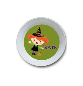 Halloween Girl Personalized Halloween Bowl
