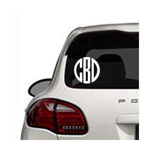 Circle Personalized Vinyl Decal