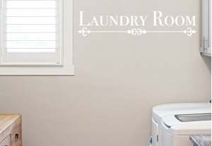 Laundry Room Vinyl Door  & Wall Decal