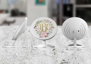 Peony Wreath Personalized Wireless Induction Charger