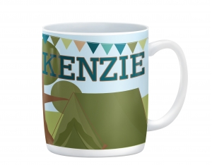 Camping Out Personalized Kids Mug