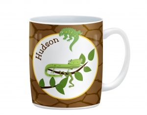 Cool Reptiles Personalized Kids Full Background Mug