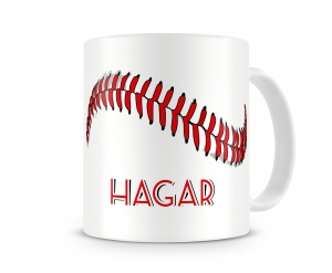 Baseball - Softball Personalized Coffee Mug, Hot Chocolate Mug, Custom Personalized Mug