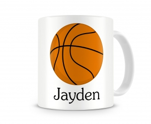 Basketball Personalized Kids Melamine Cup, Basketball Kids Mug