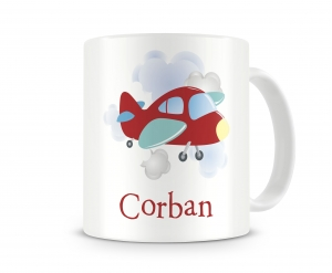 High Flyer Airplane Personalized Kids Melamine Mug, Airplane Personalized Kids Cup