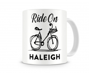 Ride On Bicycle Personalized Coffee, Hot Chocolate Mug, Custom Personalized Mugs