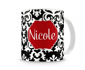 Vintage Damask Personalized Coffee