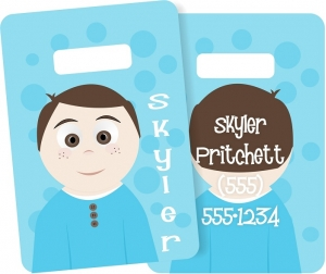 Little Me Boys Monogrammed Bag Tag - Design Your Own Skyler