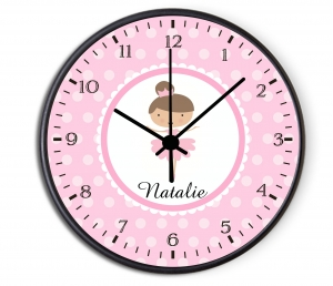 Personalized Kids Ballerina Clock