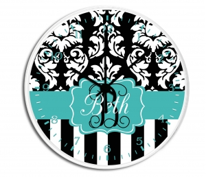 Dandy Damask Personalized Wall Clock