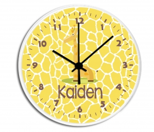Giraffe Boy Personalized Clock