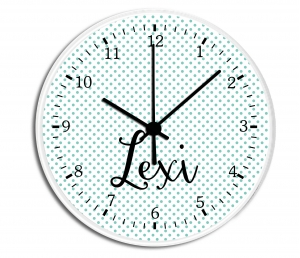 Polka Dots Personalized Decorative Wall ClockPolka Dots Personalized Decorative Wall Clock