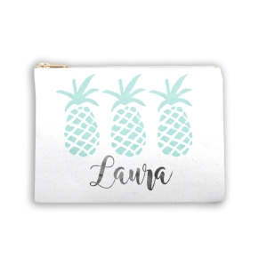 Pineapple Personalized Makeup Bag