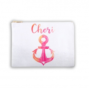 Nautical Anchor Personalized Makeup Bag