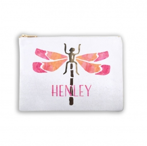 Dragonfly Personalized Makeup Bag