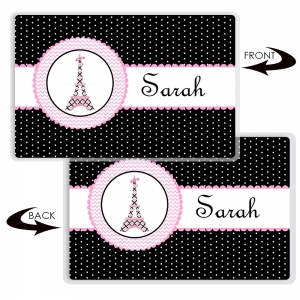 Pretty In Paris Personalized Place Mat