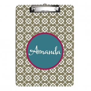 Geo Personalized Monogrammed Clipboard