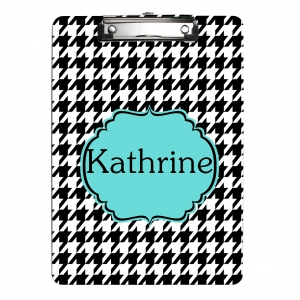 Monogrammed Clipboard {Houndstooth}