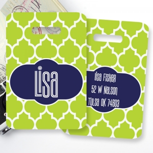 Moroccan Monogrammed Bag Tag