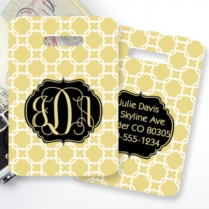 Chainlink Monogrammed Bag Tag