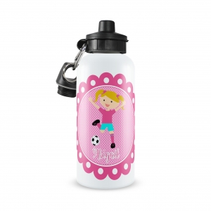 Soccer Girl Monogrammed Water Bottle