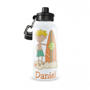 Surfer Boy Personalized Water Bottle