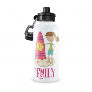 Surfer Girl Personalized Water Bottle