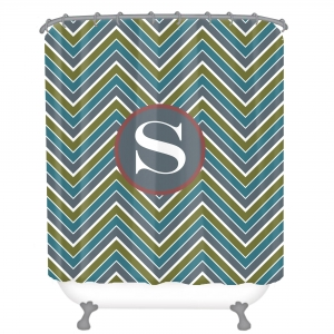 Personalized Shower Curtain Chevron Three Color
