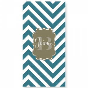 Chevron Slide Personalized Bath/Beach Towel