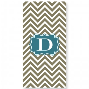 Chevron Personalized Shower Curtain