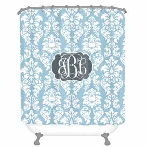 Damask Personalized Shower Curtain