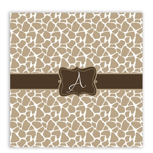 Giraffe Print Personalized Shower Curtain