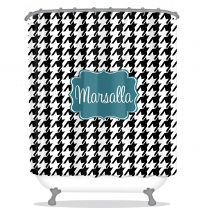 Personalized Shower Curtain Houndstooth