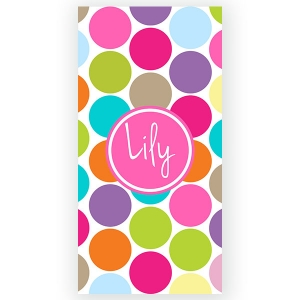 Jumbo Dots Personalized Bath/Beach Towel