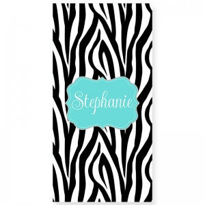 Zebra Personalized Bath/Beach Towel