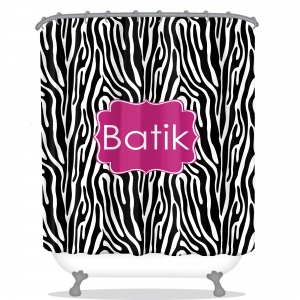 Personalized Shower Curtain Zebra
