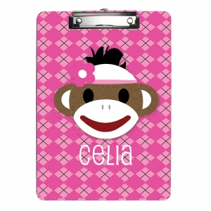 Sock Monkey Clipboard {Girl}