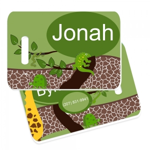 Jungle Explorer Monogrammed Bag Tag