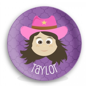 Personalized Girls Melamine Face Plate - Taylor