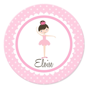 Ballerina Girls Personalized Plate