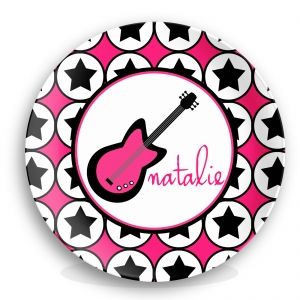 Rocker Chick Personalized Plate