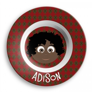 Personalized Boys Melamine Faces Bowl- Adison Bowl