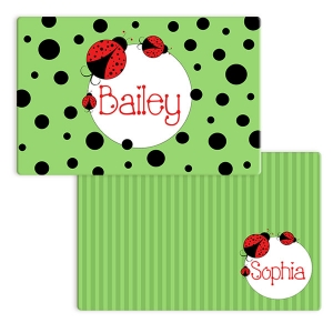 Ladybug Girls Personalized Placemat