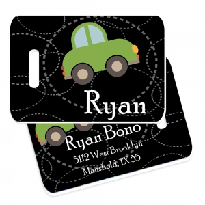 Roadster Personalized Bag Tag